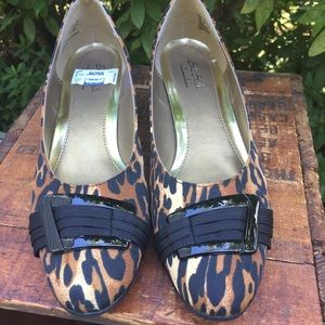 Soft style animal print canvas loafer shoes 10